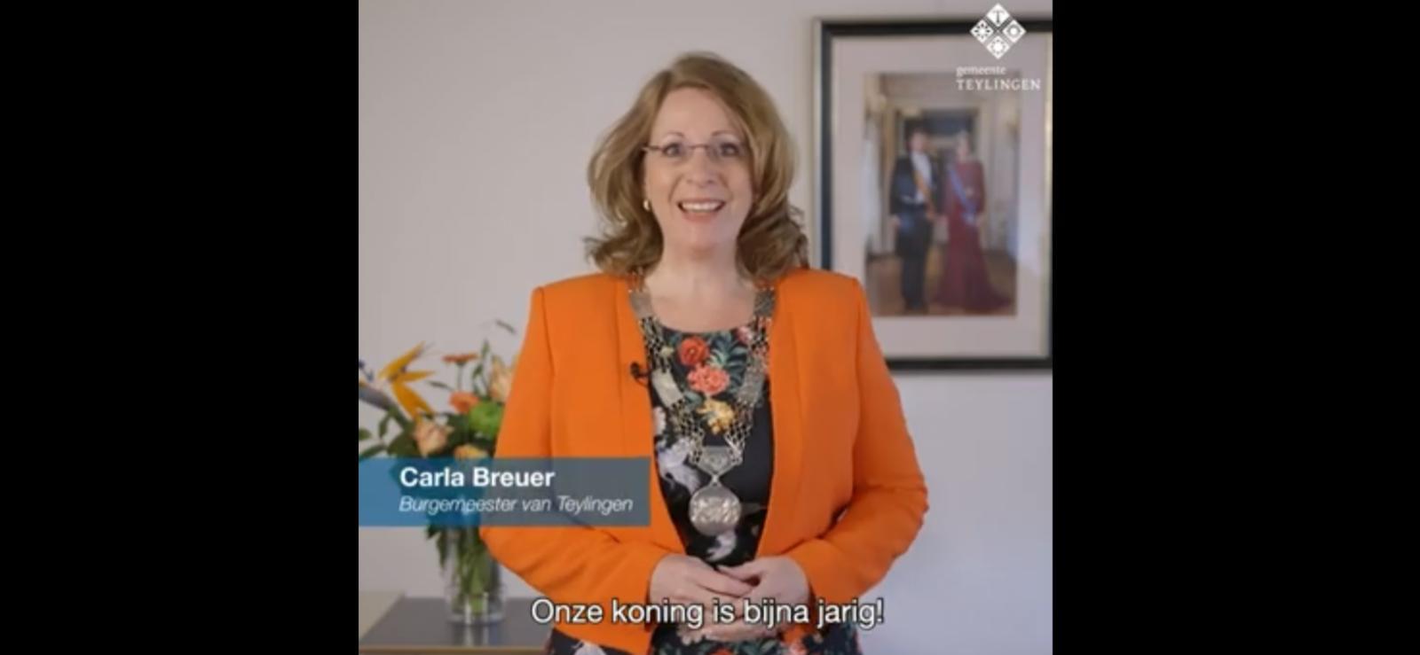 Oproep burgemeester Carla Breuer